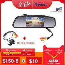 Hikity Auto Carro 4.3 TFT Carro Monitor Espelho Estacionamento 2 Entrada de Vídeo Para Câmera de visão Traseira À Prova D Água Estacionamento Assistência sistema
