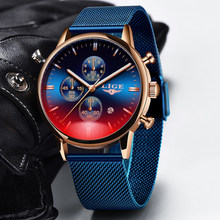 2020 Ini Jam Tangan Pria Top Merek Mewah Kasual Mesh Belt Watch Fashion Sport Watch Pria Tahan Air QUARTZ Clock Relogio Masculino(China)