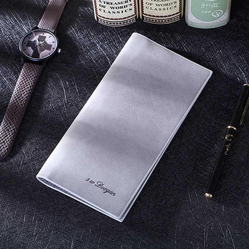 Wallets For Men's Made Of Natural Thin Leather Wallet For Men Carteras Hombre Billetera  Vintage Slim Purses Porte Feuille Homme
