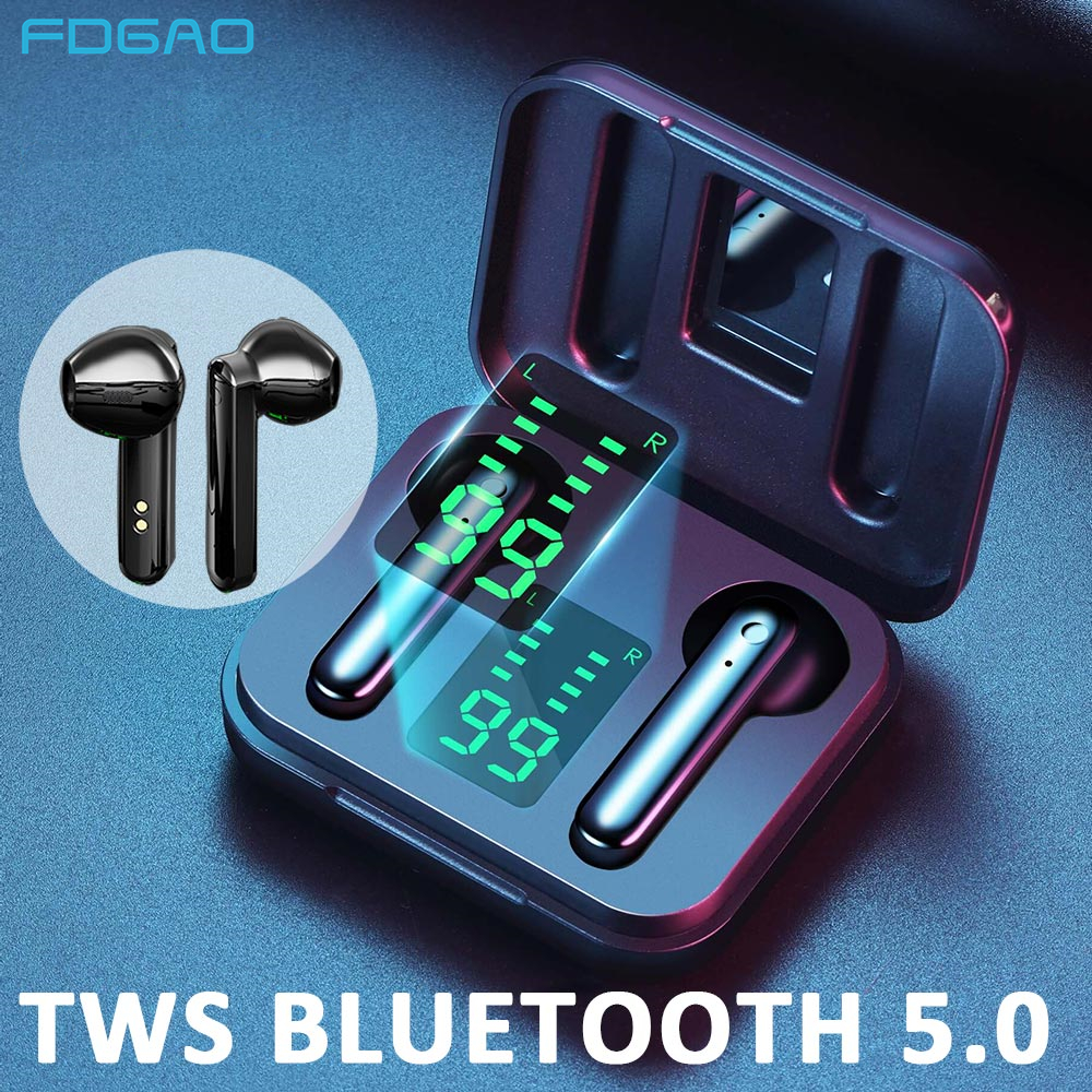 TWS 5.1 Wireless Headphones Bluetooth Earphones with Microphone Sports Waterproof Touch Control Headsets Stereo Sound Earbuds