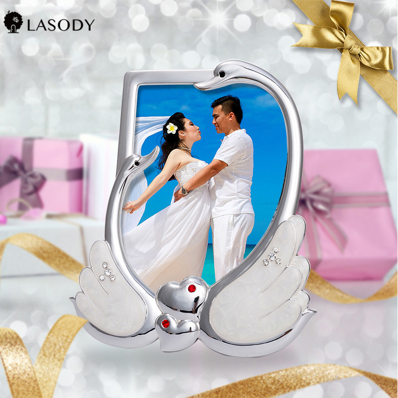 Wedding Photo Frame 6x4 Photo Frame Love Picture Frame With Plate Silver And Gold Engagement Gifts Personalized Frames Frame Aliexpress