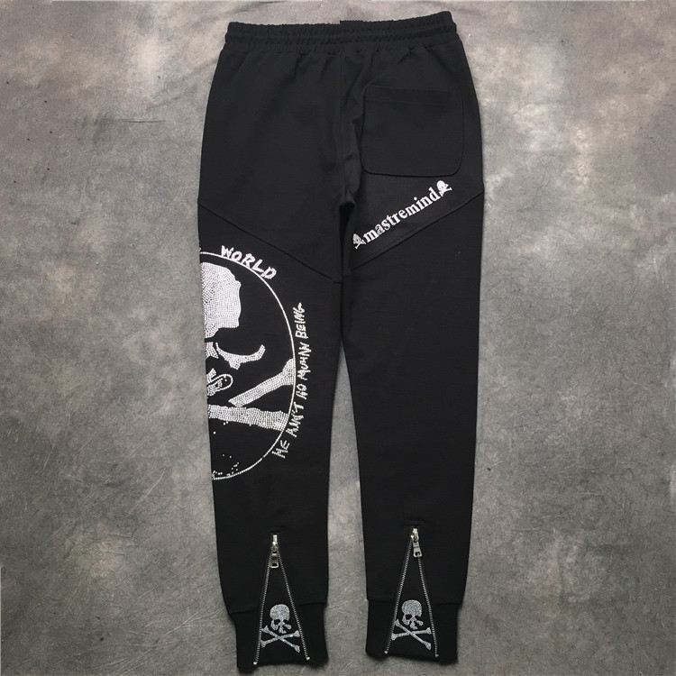 High New Novelty Luxury 19ss Mastermind Skull Monster Stripe Comfortable Classic Paisley 4 White Casual Pants Sweatpants #m9