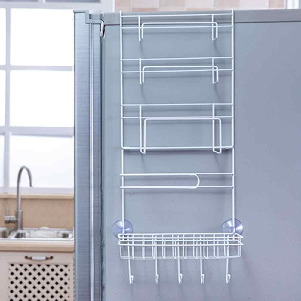 La Pared Lateral Nevera Organizador Estante Multi-Capa De Almacenamiento del Refrigerador Estante Montado En La Pared Lateral Titulares De Especias