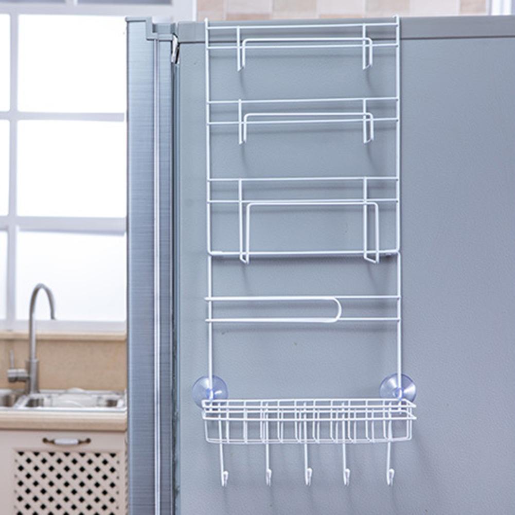 Новый стеллаж для хранения морозильной камеры, кухонный Домашний Органайзер для специй, полка для хранения