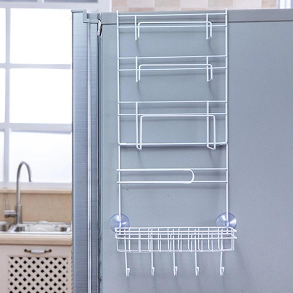 over door freezer storage rack hanging holder basket kitchen refrigerator organizer home spice organizer pantry holder shelf