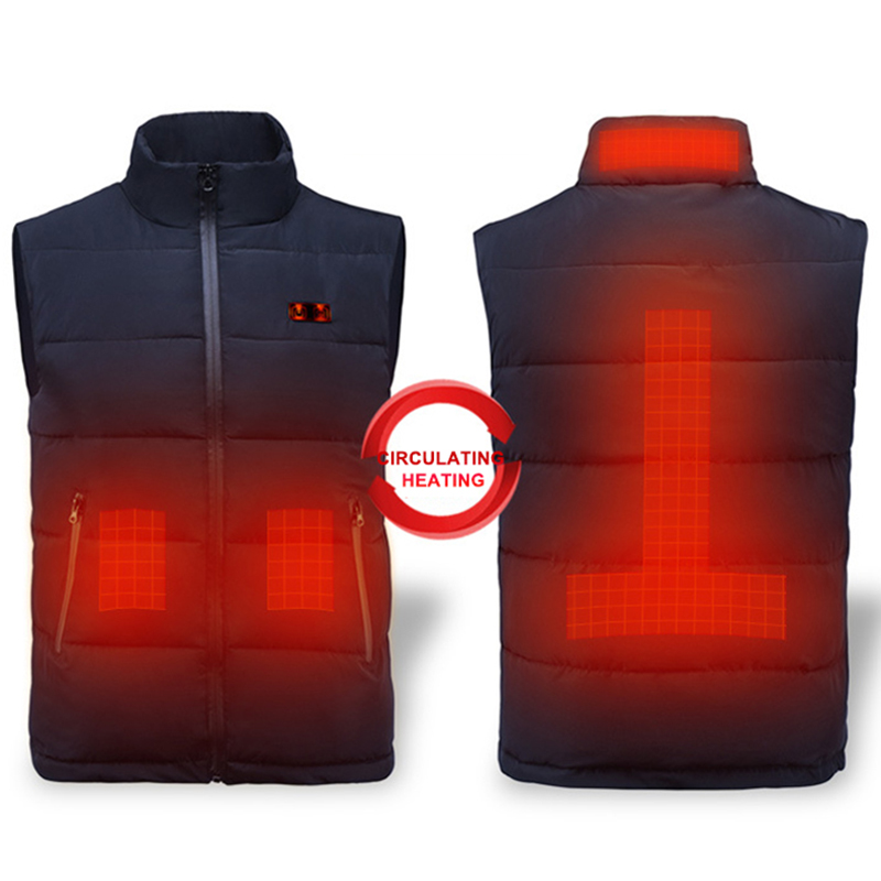 ZYNNEVA Men Women Outdoor USB Self Heated Vest Winter Intelligent Heating Waistcoat Carbon Fiber Heated Hiking Clothing GC1127
