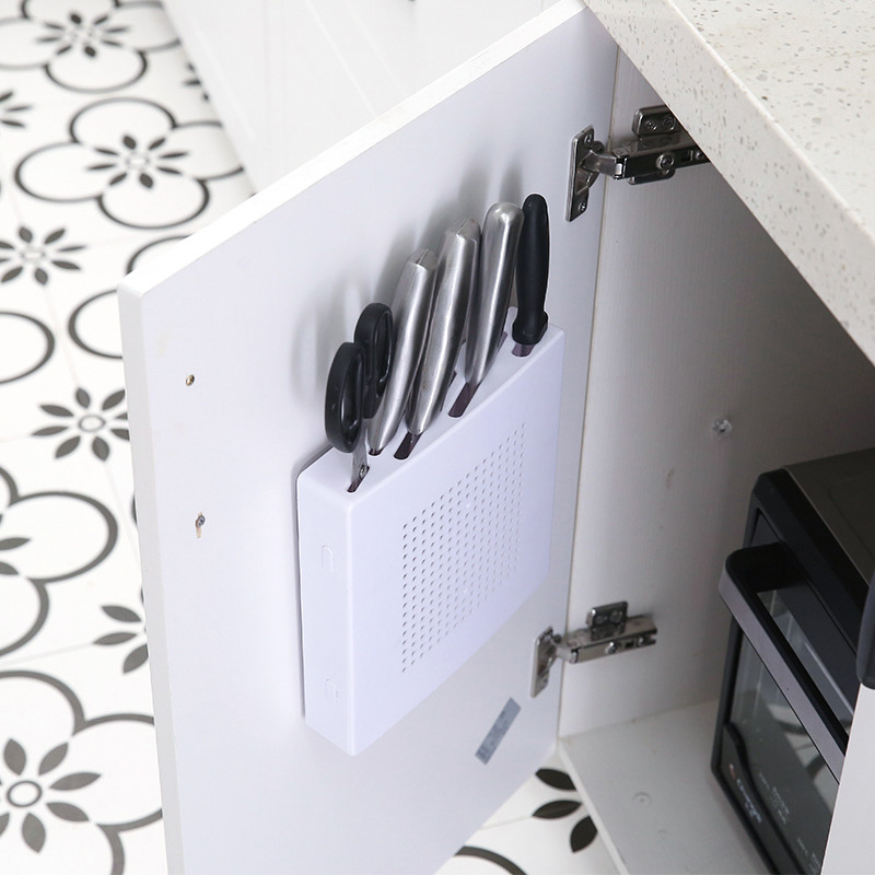 1 PC Knife Blocks Wall Holder Block Plastic Storage Rack Holder Shelf Kitchen Cooking Tools Knife Stand For Knives