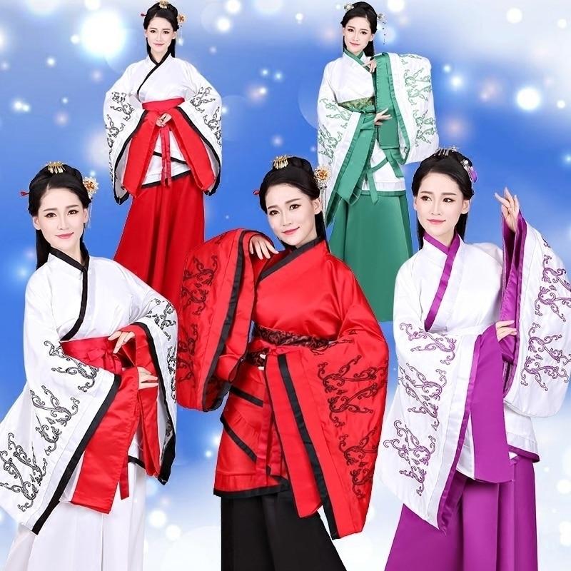 Women National Dance Dress Lady Elegant Hanfu Chinese Ancient Hanfu Dance Clothes Cosplay Costume Female Chinese Stage Dress