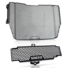 цена на For Triumph Speed Triple 1050 S RS Radiator Guard Grille Cover Motorcycle Radiator Guard Protector Grille Cover Oil cooler Guard