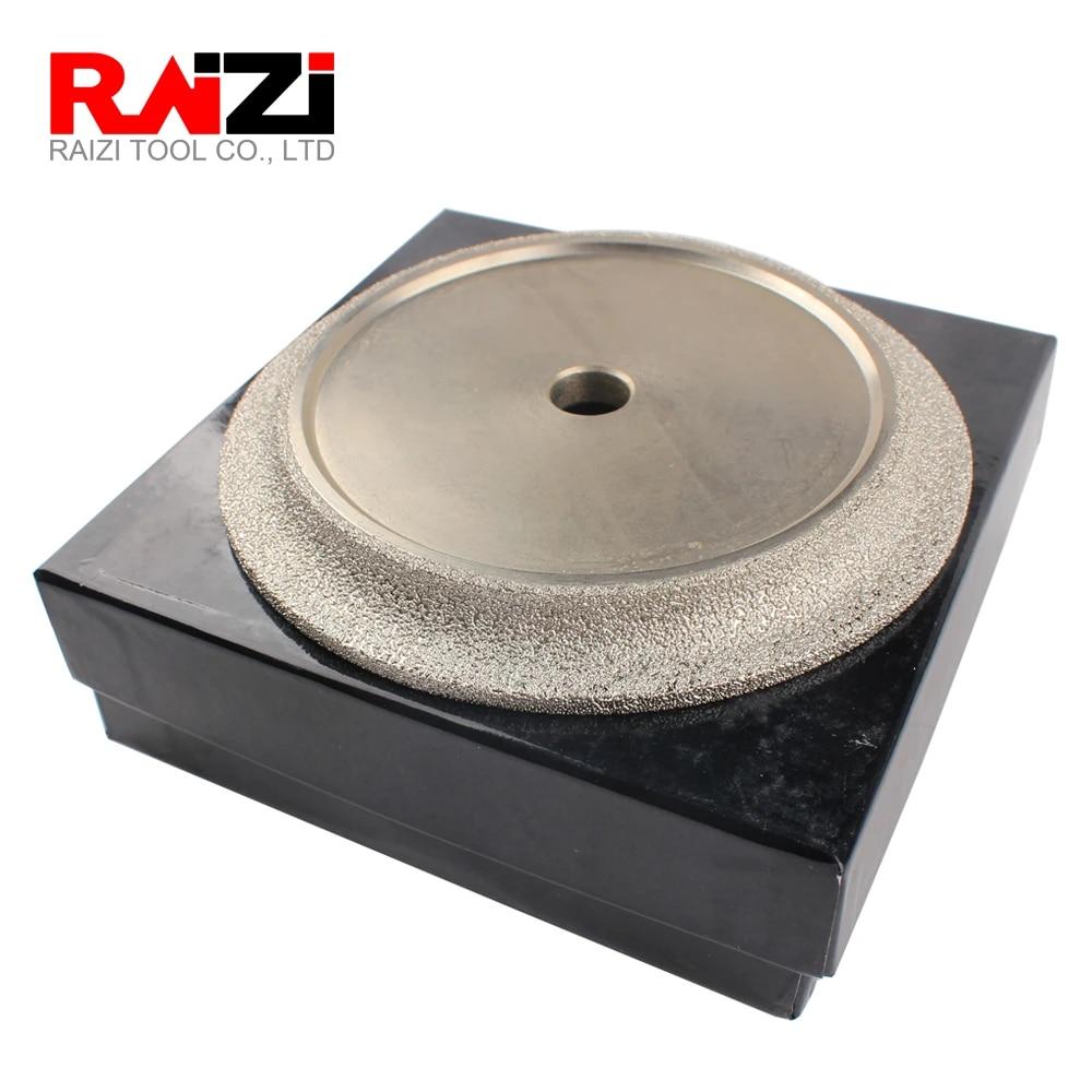 raizi 6 inch 150 mm demi bullnose diamond profile wheel for granite marble tile vacuum brazed profiler grinding profiling wheel