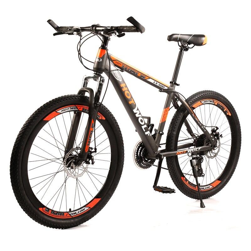 HOT WOLF 26 дюймов новый велосипед 24 скорости велосипедная рама из высокоуглеродистой стали взрослый велосипед двойной дисковый тормоз горный ...