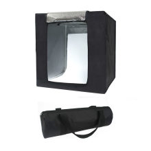 45Cm Mini Photo Studio LED Fotografi Studio Tenda Kit Disesuaikan Studio Aksesori (Hitam, UK Standar)(China)