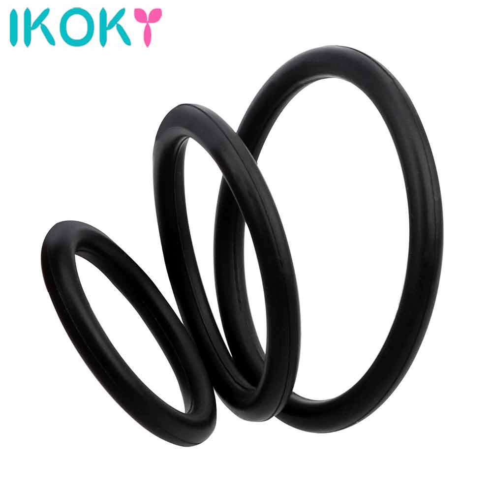3Pcs Elastic Penis Ring Sex Toys For Men Male Masturbator Cock Ring Delay Ejaculation Dildo Extender Adult Product Sex Shop