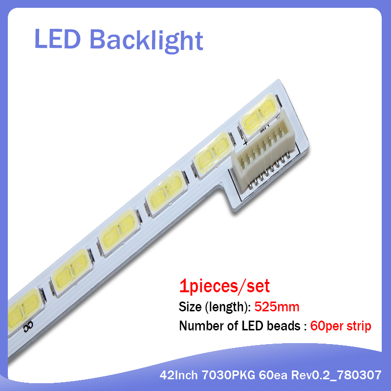 LED Backlight Strip 60 Lamp For LG Innotek 42Inch 7030PKG 60ea Rev0.2 Type 525mm New