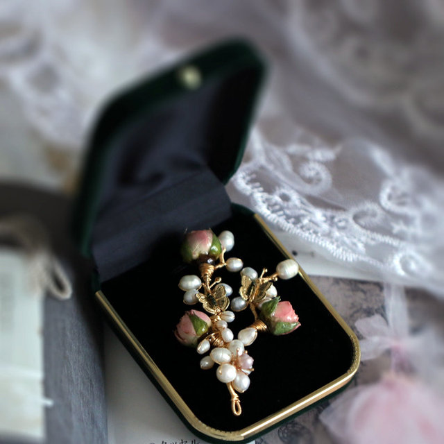 SINZRY unique fait à la main perle naturelle conservée rose fleur à la mode vintage broches broche costume de mode bijoux accessoire pour femme
