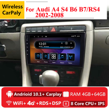 9 4G RAM 8 cores Android Car DVD Stereo GPS Navigation For Audi A4 S4 RS4 8E 8F B9 B7 2002 to 2007 2008 radio headunit 4G автомобильный компьютер greenyi 1024 600 android 4 4 audi a4 1 6g 1g ram dvd gps wifi 3g
