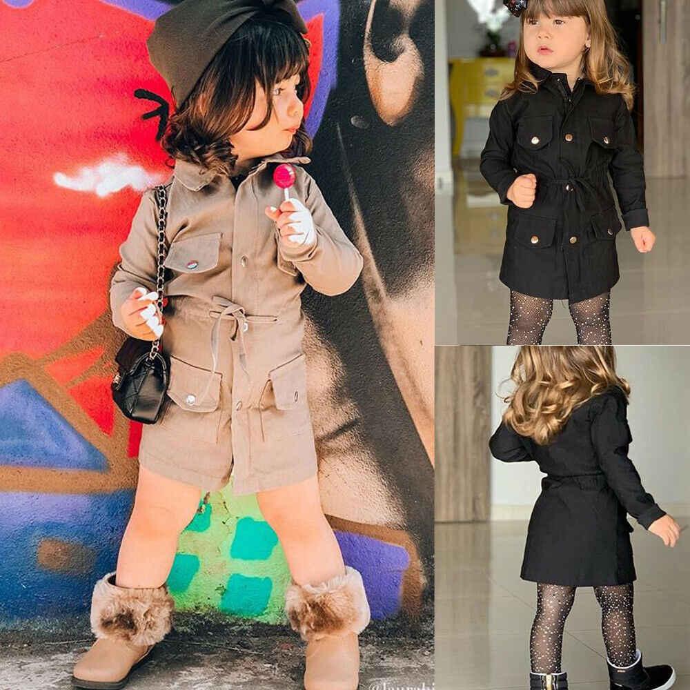 2020 החדש חם אביב סתיו בגדי תינוק בנות בני ילדי מעיל מעיל חורף חם ילדי חולצות חליפות ארוך שרוול בגדים 2-7T