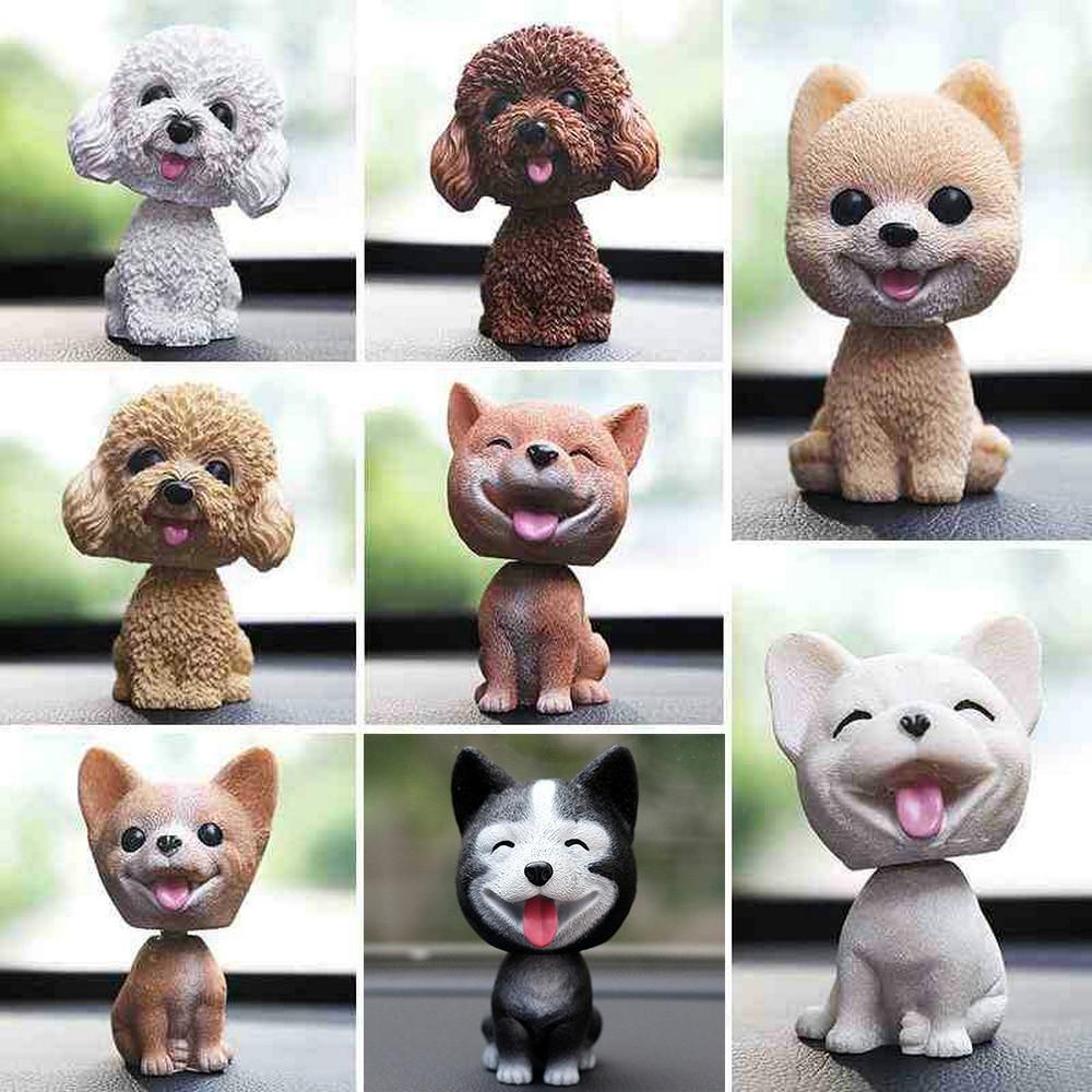 Husky Teddy/Poodle Shaking Head Nodding Dog Sticker Car Styling Decoration Accessories Boy/Girl Friend Gift Birthday Toys Animal