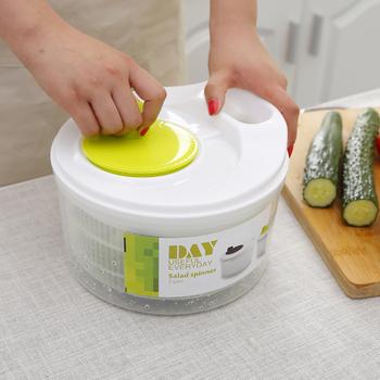 Suszarka do sałatek warzywa owoce kosz spustowy odwadniacz wstrząsnąć kosz wody wielofunkcyjne narzędzia do sałatek kuchennych tanie i dobre opinie LemonBest Ekologiczne Na stanie Sałatka spinners Vegetable Dryer CE UE Other