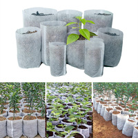100Pcs Different Sizes Biodegradable Non-woven Seedling Pots Eco-Friendly Planting Bags Nursery Bag Plant Grow Bags Fabric Pouch