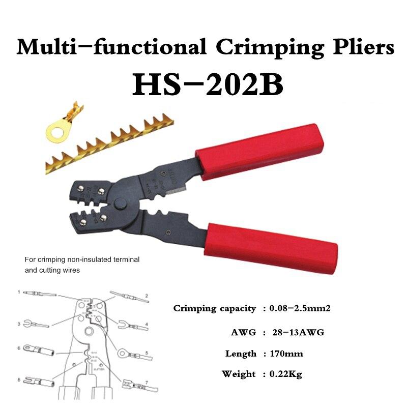 HS-202B alicate de frio multi-funcional para fios de corte terminaland não isolados
