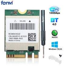 Adaptador sem fio de banda dupla dw1560, placa de wifi ngff m.2 1200mbps bluetooth 4.0 ngff 802.11ac wifi