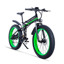 26inch electric mountain bicycle fat ebike 48V750W Soft tail e-bike fold frame Maximum speed 45km/h EMTB