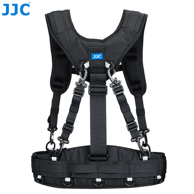 JJC Vest style Photography Belt & Harness System For JJC DLP Series, Lowepro S&F Series Lens Pouches For Canon Nikon Sony Pentax