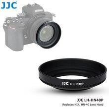 JJC przykręcana osłona przeciwsłoneczna dla Nikon NIKKOR Z DX 16-50mm f/3.5-6.3 VR obiektyw zastępuje Nikon HN-40 osłona obiektywu ABS materiał