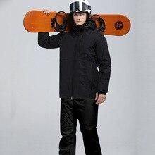 Зимний лыжный костюм для мужчин, высокое качество, лыжная куртка, брюки для снега, теплый, водонепроницаемый, ветрозащитный, для катания на лыжах, сноуборде, мужской лыжный костюм s