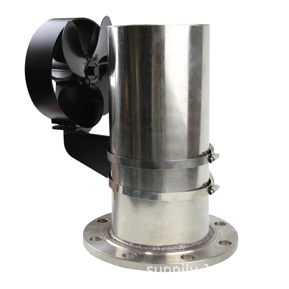 4 Blades Heat Powered Stove Fan Log Wood Burner Fan Quiet Black Home Fireplace Fan Efficient Heat Distribution Home Accessories