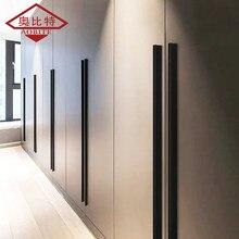 AOBITE Black Long 1200mm Cabinet Handles Drawer Bedroom Pull Knobs Aluminum Door Handle Vintage Furniture Hardware Decorative