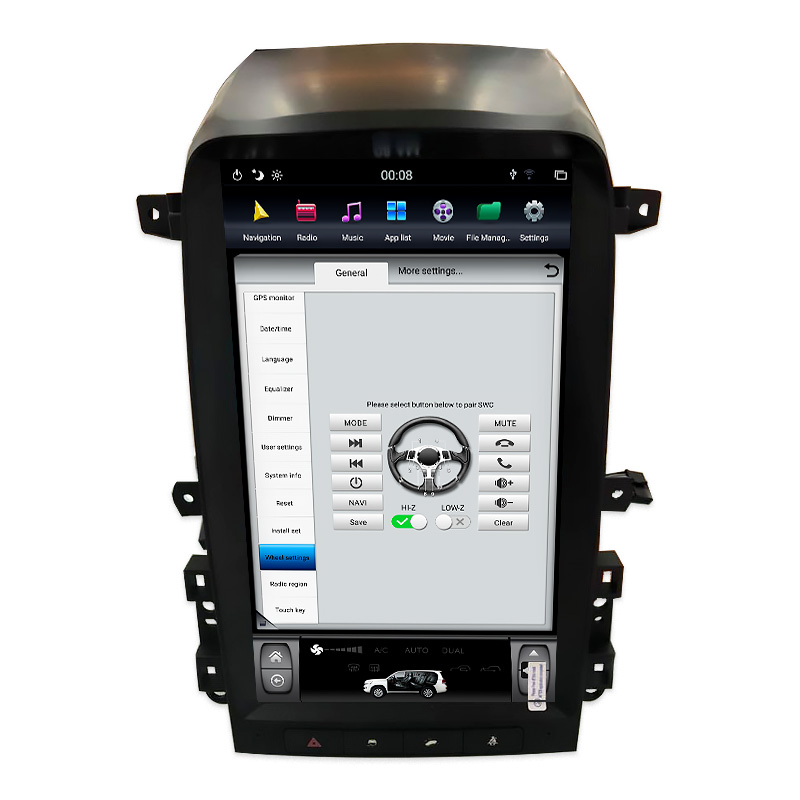 Chogath 13.6 Inch Car Multimedia Player Quad Core Android 6.0 Car Radio GPS Navigation Player For Chevrolet Captiva 2006-2012