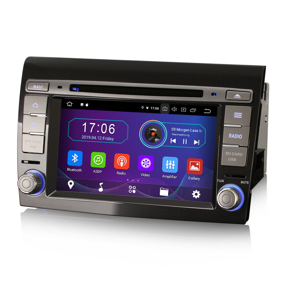"""7"""" Android 10.0 OS Car DVD Multimedia Navigation GPS Radio System Player for Fiat Bravo 2007-2014 with 3G/4G Dongle Support(China)"""