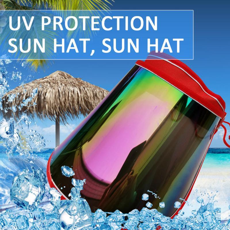 Unisex Summer Sun Protection Ultraviolet Polarized Sun Visor Hat Outdoor Travel Fishing Biking Face Cover Sun Protective Hat Cap