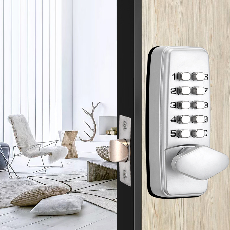 Zinc Alloy Miniature Mechanical Combination Lock Numberal Deadbolt Door Digital Lock Keyless Password Non-Power Anti-rust Lock