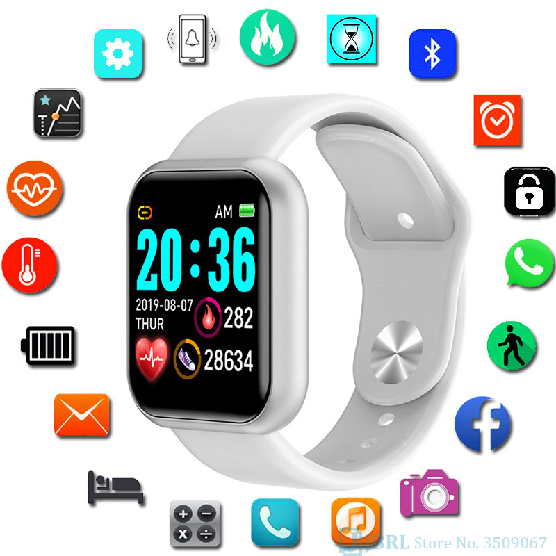 Sport Large Screen Wrist Watch Kid Digital Watches For Android IOS Boys Girls Led Watch Fitness Tracker Digital WristWatch Child