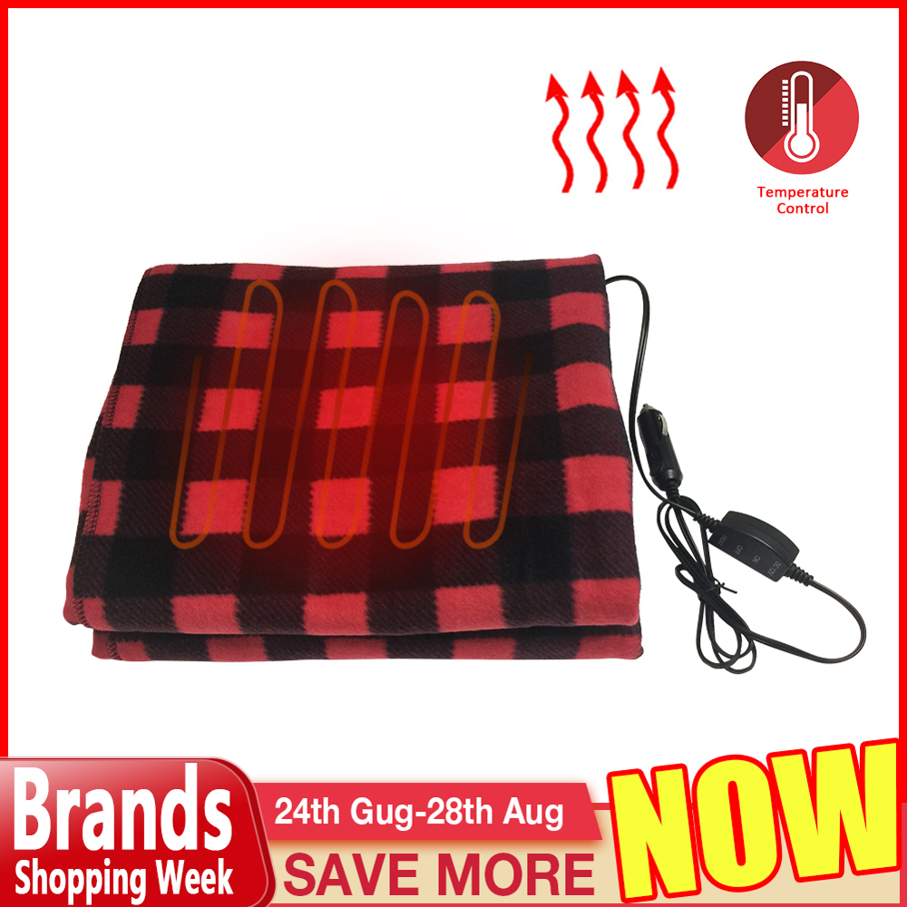 145 100cm Lattice Energy Saving Warm 12V Car Heating Blanket Autumn And Winter Electric Blanket Car Accessories