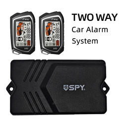 Germany Spy Two Way Car Alarm System Engine Start 2 LCD Remote 5000Meter Security Two-way Keyless Entry Central Gasoline Diesel