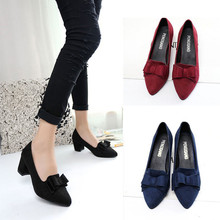 2020 Women 's Shoes Suede Thick High Heels Fashion Casual Pointed Toe Shoes Women Shoes Heel Slippers Summer Pumps Women Shoes women s shoes fashion women pumps sexy leopard grain high heels shoes 2017 womens horsehair thick heels pointed toe rivets shoes