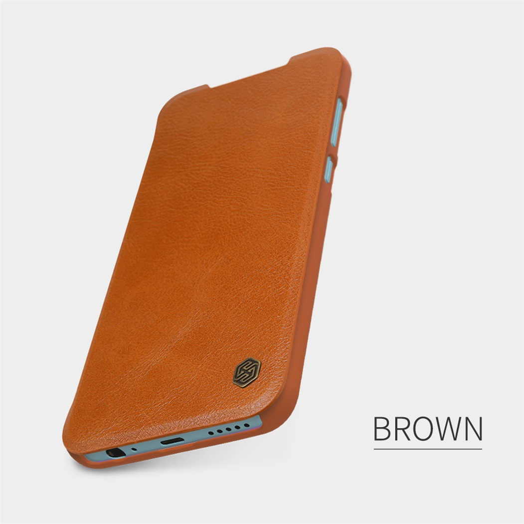 For Xiaomi Redmi Note 9 Redmi 10X 4G Flip Case Nillkin Leather Wallet Smart Sleep Wake Up Flip Cover For Redmi Note 9 Phone Bags