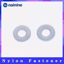 10 шт.-100 шт. DIN125 ISO7089 M2 M2.5 M3 M4 M5 M6 M8 M10 белый Пластик нейлоновая шайба покрытием плоская шайба прокладка кольцо NL03