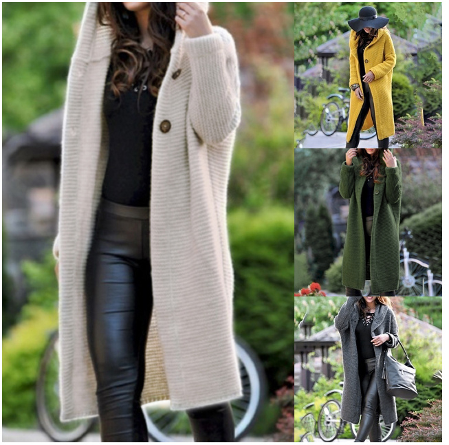Womens Long Sweater  Open Front Drape Lightweight Duster High Low Hem Maxi Long Sleeve Plus Size  Thick Cardigan  Ouc559