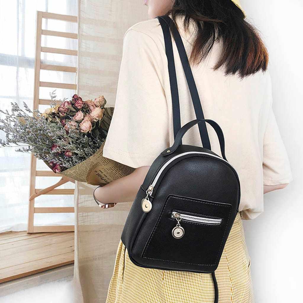 Mini plecak damska torebka na ramię ze skóry pu dla nastoletnich dziewcząt dzieci wielofunkcyjny mały plecak damski plecak szkolny