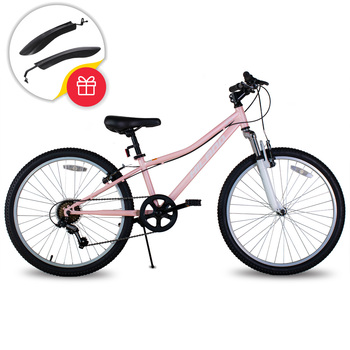 5 Colors Free Shipping 24 Inch Wheel Bikes 7 Speed Bicycle Front Rear V Brake MTB Road Bike City BIcycle Bicicleta 1