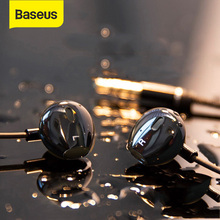 Baseus H06 In Ear Earphones for Phone HiFi Stereo Bass Headphones 3.5mm jack wired Audio Earbuds Headset for iPhone Mobile Phone