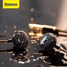 Baseus H06 kulak kulaklık telefon için HiFi Stereo bas kulaklık 3.5mm jack kablolu ses kulakiçi kulaklık için iPhone cep telefonu