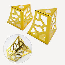 Hollow Out Furniture Legs Retro Metal Black/Gold/Silver Sofa Table Tv Cabinet Drawers DIY Replacement Support Legs New Arrival