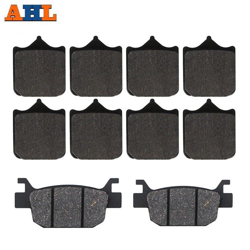AHL Motorcycle Front and Rear Brake Pads For <font><b>Benelli</b></font> TRK502 TRK502X TRK 502 Leoncino 500 BJ500 <font><b>BJ500GS</b></font>-A BJ 500 image
