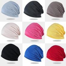 Bonnet Cap Beanies-Hat Hip-Hop Women Summer Solid Snap-Thin Soft
